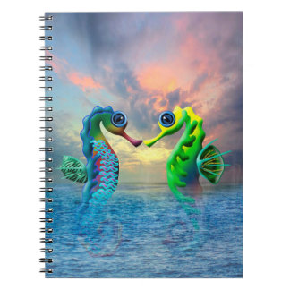 Seahorses Spiral Notebook