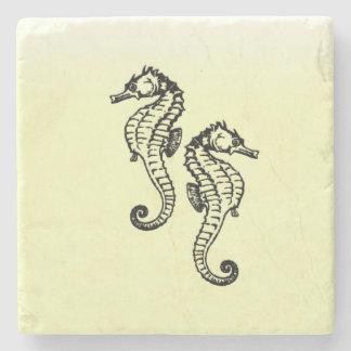 Seahorses Yellow Stone Coaster