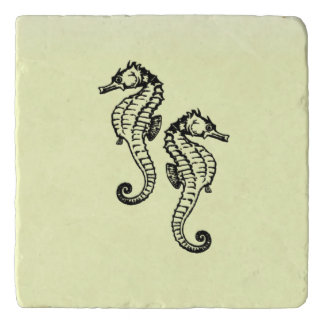 Seahorses Yellow Trivet
