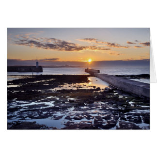Seahouses sunset, Northumberland Card