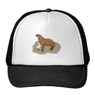 Seal And Seal Pup Mesh Hat