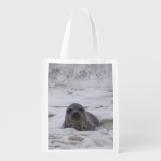 Seal - Animal Photo Print Reusable Grocery Bag