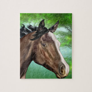 Seal Bay Thoroughbred Horse Jigsaw Puzzle