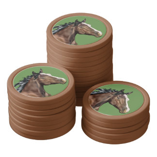 Seal Bay Thoroughbred Horse Set Of Poker Chips