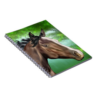 Seal Bay Thoroughbred Horse Spiral Notebooks