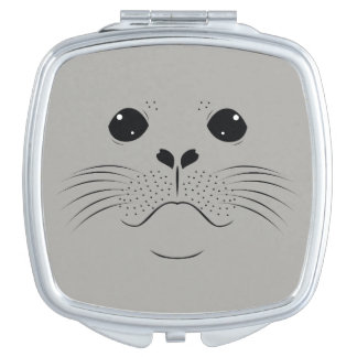 Seal face silhouette compact mirrors
