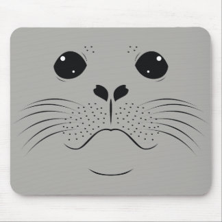 Seal face silhouette mouse pad