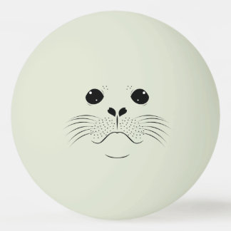 Seal face silhouette ping pong ball
