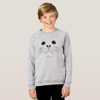 Seal face silhouette sweatshirt