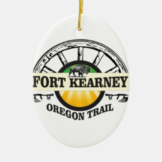 seal fort kearney ceramic ornament