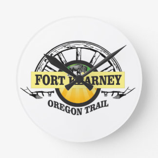 seal fort kearney round clock