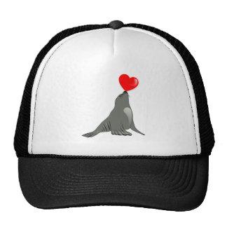 Seal heart seal heart hat