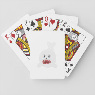 Seal is crying Zr2rw Playing Cards