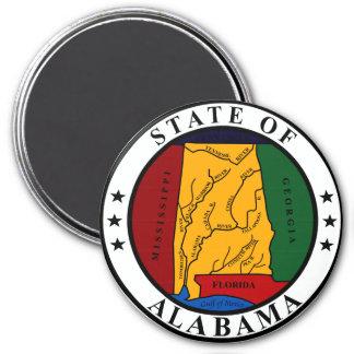 Seal of Alabama 7.5 Cm Round Magnet