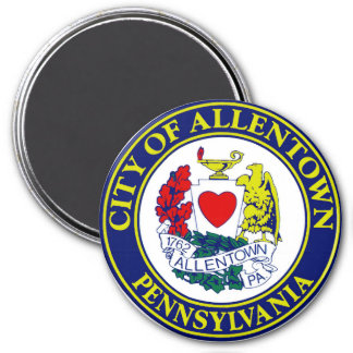 Seal of Allentown, Pennsylvania 3 Inch Round Magnet