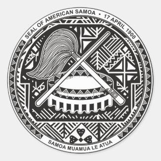Seal of American Samoa Round Sticker