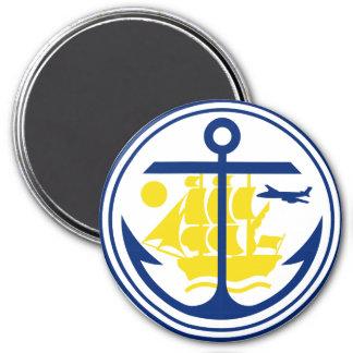 Seal of Anchorage, Alaska 3 Inch Round Magnet