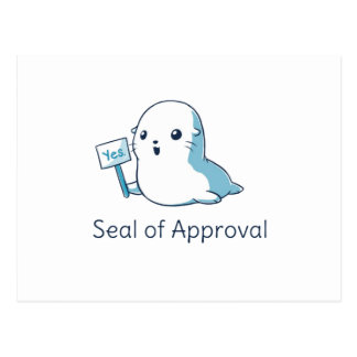 Seal Of Approval Tee T-shirt Postcard
