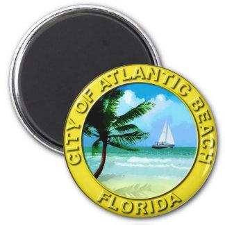 Seal of Atlantic Beach, Florida 2 Inch Round Magnet
