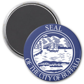 Seal of Buffalo, New York 3 Inch Round Magnet