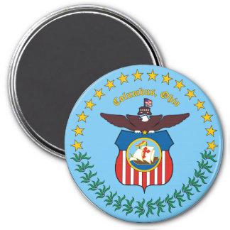 Seal of Columbus, Ohio 3 Inch Round Magnet