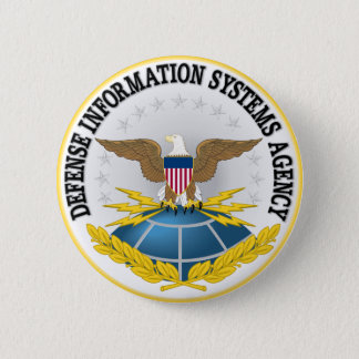 Seal of Defense Information Systems Agency 6 Cm Round Badge