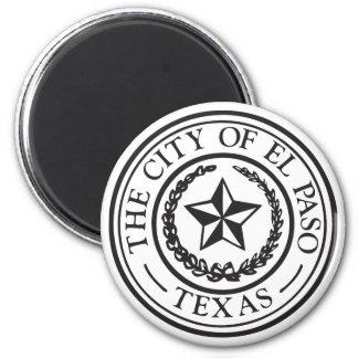 Seal of El Paso 6 Cm Round Magnet