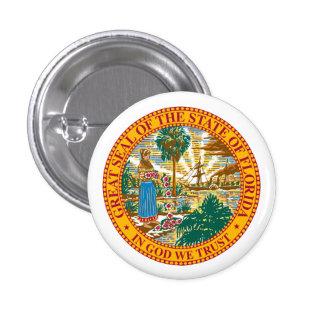 Seal of Florida 3 Cm Round Badge