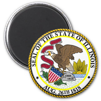 Seal of Illinois 6 Cm Round Magnet