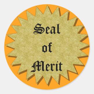 Seal of Merit Round Sticker