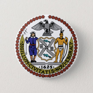 Seal of New York 6 Cm Round Badge