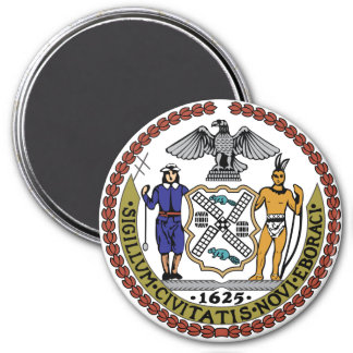 Seal of New York 7.5 Cm Round Magnet