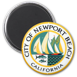Seal of Newport Beach, California 2 Inch Round Magnet