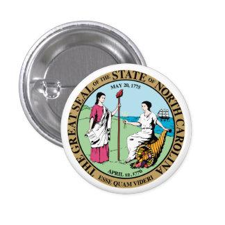 Seal_of_North_Carolina 3 Cm Round Badge