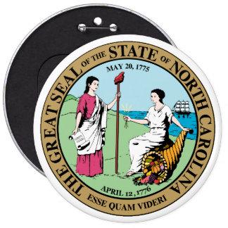Seal_of_North_Carolina 6 Cm Round Badge