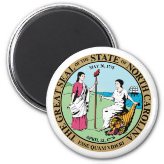 Seal_of_North_Carolina 6 Cm Round Magnet