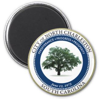 Seal of North Charleston, South Carolina 2 Inch Round Magnet
