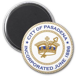 Seal of Pasadena, California 2 Inch Round Magnet