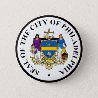 Seal of Philadelphia, Pennsylvania 6 Cm Round Badge