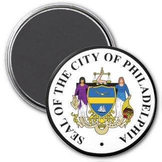 Seal of Philadelphia, Pennsylvania 3 Inch Round Magnet
