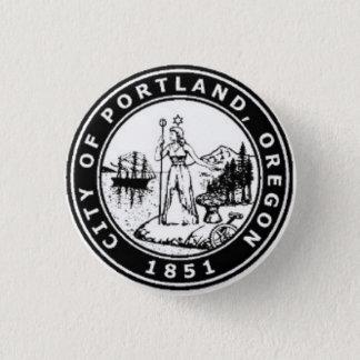 Seal of Portland, Oregon 3 Cm Round Badge