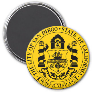 Seal of San Diego, California 3 Inch Round Magnet