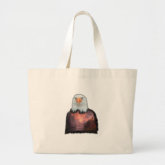 Seal of the Brave Large Tote Bag