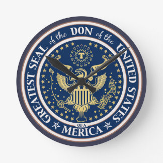 Seal of the Don Round Clock