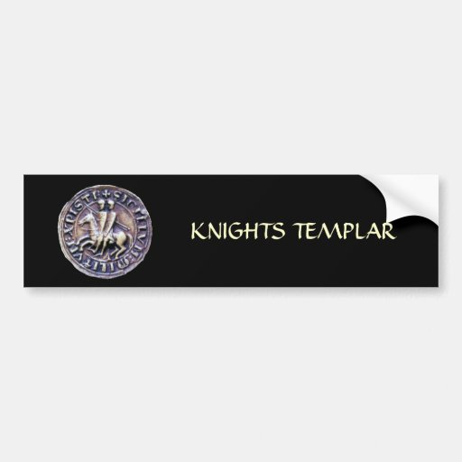 SEAL OF THE KNIGHTS TEMPLAR BUMPER STICKERS