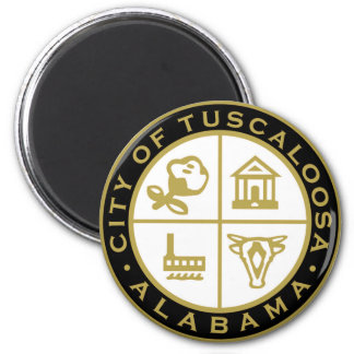 Seal of Tuscaloosa, Alabama 2 Inch Round Magnet