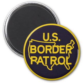 Seal of US Border Patrol 2 Inch Round Magnet