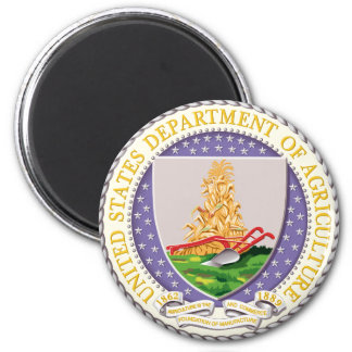 Seal of US Dept of Agriculture 2 Inch Round Magnet