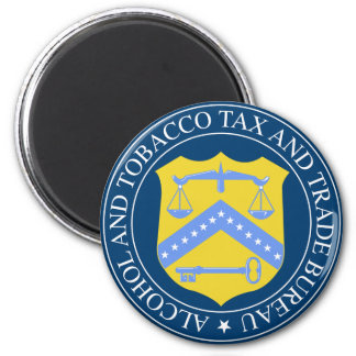 Seal of US Dept of Alcohol & Tobacco 2 Inch Round Magnet