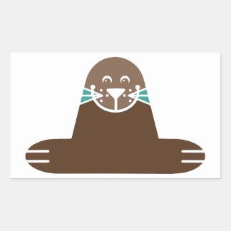 Seal Pinnipeds Marine Semiaquatic Mammals Cute Rectangular Sticker